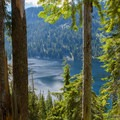 Snoqualmie Lake from the ridge above.- Snoqualmie Lake