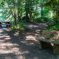 Day use area near the river.- Money Creek Campground