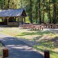Day use picnic area at Salmon la Sac Campground. - Salmon la Sac Campground