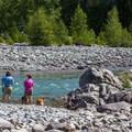 River access.- Salmon la Sac Campground