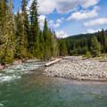 Cle Elum River.- Salmon la Sac Campground
