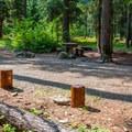 Campsite.- Cayuse Horse Campground