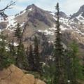 Goat with Ingalls in background.- Ingalls Peak