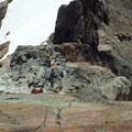 Looking back to the belay station.- Ingalls Peak