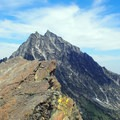 Summit with Mount Stuart behind.- Ingalls Peak