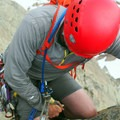 Rappelling down.- Ingalls Peak