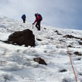 Steeper snow slope toward the summit.- Middle Sister: Hayden Glacier + North Ridge