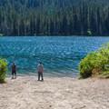 Cooper Lake boat launch.- Cooper Lake