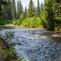 Trail follows the river to Waptus Lake.- Spade Lake