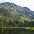 Ridges around the Lake Elizabeth.- Lake Elizabeth