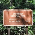 Sign at the trailhead, just a brief walk from the parking lot.- Mount Saint Helena