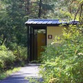 Flush toilets at tumwater campground.- Tumwater Campground