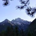 Colonial Peak (7,772') from Thunder Knob Trail.- Thunder Knob