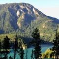 Sourdough Mountain (6,107') and Diablo Lake.- Thunder Knob