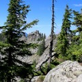 The first summit lookout at 4,800 feet.- Beckler Peak Trail