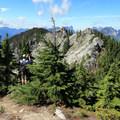 Looking across the eastern summits toward Baring Mountain (6,125'), Merchant Peak (6,113'), Gunn Peak (6,240'), and many more.- Beckler Peak Trail