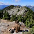 Perfect resting spot at the top of Beckler Peak.- Beckler Peak Trail