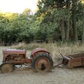 There are some interesting antique tractors and farm equipment at various locations in Dorris Ranch.- Dorris Ranch Living History Farm
