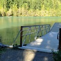 Dock on Diablo Lake.- Colonial Creek Campground