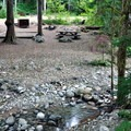 A creekside site in the north loop.- Colonial Creek Campground