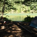 Lakeside site in the south loop.- Colonial Creek Campground