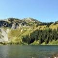 Lake Ann from the shoreline.- Lake Ann via Maple Pass Loop