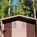 Newly renovated vault toilets at Johnny Creek Campground.- Upper + Lower Johnny Creek Campground