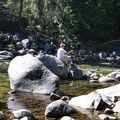 Fishing at Johnny Creek Campground.- Upper + Lower Johnny Creek Campground