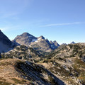 Corteo Peak (8,080') on the left and Black Peak (8,970') in the center.- Maple Pass Loop Hike