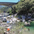 Swimming hole at Highway 49 Crossing.- South Yuba River State Park