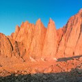 The Needles at sunrise.- Mount Whitney: Mountaineers Route