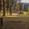 The campground's horseshoe pit.- Ukiah-Dale Forest State Park Campground