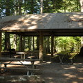 Group site picnic shelter.- Newhalem Creek Campground