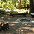 Group site fire pit.- Newhalem Creek Campground
