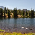The shores of South Mathieu Lake. North Sister(10,085') in the distance.- Matthieu Lakes