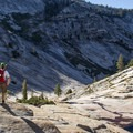 The upper granite bowl. Tenaya Canyon.- Tenaya Canyon Descent