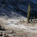 Upper granite bowl.- Tenaya Canyon Descent