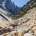 More rugged terrain beyond Lost Valley en route to the Inner Gorge.- Tenaya Canyon Descent
