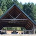 Group picnic shelter at Fort Hoskins Historic Park. - Fort Hoskins Historic Park