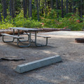 Campsite at south campground.- Lake Wenatchee State Park