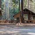 Horse corrals at Lake Wenatchee State Park South Campground.- Lake Wenatchee State Park South Campground