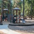 Playground at Lake Wenatchee State Park South Campground.- Lake Wenatchee State Park South Campground