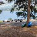 Canoe and kayak launch.- Lake Wenatchee State Park South Campground