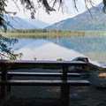 One of many lakeside campsites.- Glacier View Campground, Lake Wenatchee
