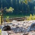 First access to Hidden Lake.- Hidden Lake