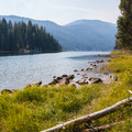 River outlet.- Lake Wenatchee State Park North Campground