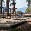Playground at the lake.- Lake Wenatchee State Park North Campground
