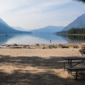 Beach picnic area.- Lake Wenatchee State Park North Campground