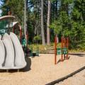 Playground at Lake Wenatchee State Park North Campground.- Lake Wenatchee State Park North Campground