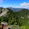 Looking back at the trail from the top of Beckler Peak.- Beckler Peak Trail